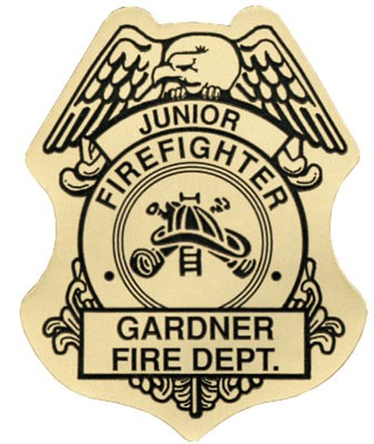 Stick On Jr Firefighter Badges - #3149