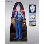 Child Size Cutout - Female Police Officer Photo Prop - Customizable