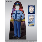 Child Size Cutout - Male Police Officer Photo Prop - Customizable - #18281VPC