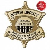 Plastic Clip-On Jr 6 Point Star Badges - #2035G
