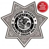 Plastic Clip-On Jr 7 Point Star Badges - #2064G