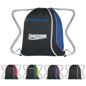 Drawstring Backpack with Mesh Accent - #3085