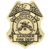 Stick On Jr Firefighter Badges - #3149