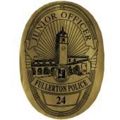 Stick On Jr Oval Police Badges - #3199