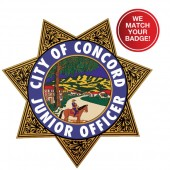 Custom Full Color Stick-On Jr Badges - #3249FC