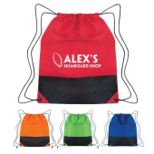 Drawstring Backpack - Two-Tone - #3384