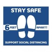 Stay Safe Stock Floor Decals - #593401